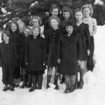 1945-Donna Rue Gill-Jenny Brown-Mary Lou Gill-Elizabeth Viskloff-Enid Clark-Edith Hystrom-Jiyce Brown-Lilly Nord-Rudy Gould-Mary Kalesnikoff-Helen Kalesnikoff