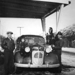 Ymir Service Station 1942 - Cede Esche on right (Courtesy Irene Esche)