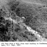 Old Ymir Mine and Mill from road leading to Goodenough Mill Sept 1927