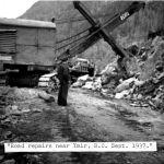 Road repairs near Ymir BC Sept 1937
