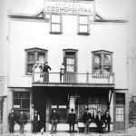 Hotel Cosmopolitan JohnBrault (with dog) - Proprietor 1898