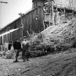 Wilcox Samp Mill. Man on left - Dave Norcross well known local prospector