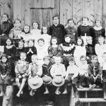 Ymir School Children 1897 - Teacher Miss E. M. Green