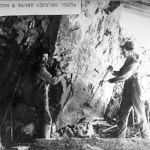 Harry Stevens and Ed Emilson 1920's hand drilling