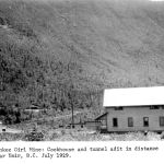 Yankee Girl Mine: Cookhouse and tunnel adit in distance July 1929