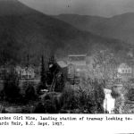 Yankee Girl Mine, landing station of tramway looking towards Ymir Sept 1927